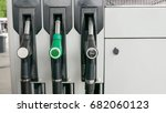 mockup of petrol pumps at... | Shutterstock . vector #682060123