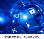 internet security concept. 3d... | Shutterstock . vector #682063597