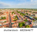 Small photo of Gdansk old city landscape with air. Aerial view of the streets of Long and Gdansk Shakespearean Theater.