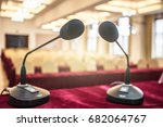 microphone in the conference... | Shutterstock . vector #682064767