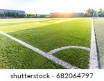 the corner of the football... | Shutterstock . vector #682064797