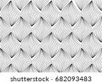 single leaf line background. ...   Shutterstock .eps vector #682093483