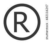 registered trademark sign. | Shutterstock .eps vector #682116247