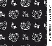 black and white paisley... | Shutterstock .eps vector #682140607