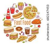 vector sketch illustration of... | Shutterstock .eps vector #682147453
