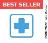 cross medicine icon . single...   Shutterstock .eps vector #682150867