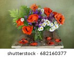 Still Life With Red Poppies An...