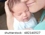 happy young woman holding her... | Shutterstock . vector #682160527