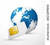 sim card global communication...   Shutterstock .eps vector #682189843