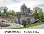 historical chapel at green wood ... | Shutterstock . vector #682211467