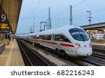 Small photo of Munich, Germany - August 27, 2014: High-speed electric train ICE T of German rail lines company Deutsche Bahn AG standing at the station Ostbahnhof in Munich