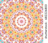 colorful symmetrical pattern... | Shutterstock . vector #682226803