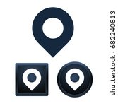 simple and button shape address ... | Shutterstock .eps vector #682240813