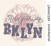 new york city  nyc  brooklyn... | Shutterstock .eps vector #682244467