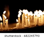 group of lighting candles in...   Shutterstock . vector #682245793