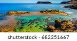 porto santo island is a... | Shutterstock . vector #682251667