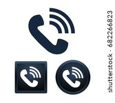 phone icons on white background ... | Shutterstock .eps vector #682266823