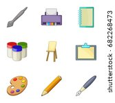 design equipment icons set....