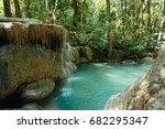 erawan waterfall  thailand | Shutterstock . vector #682295347