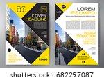 business brochure. flyer design....   Shutterstock .eps vector #682297087