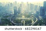 aerial view of the new semanggi ... | Shutterstock . vector #682298167