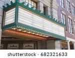 old movie theater entrance sign | Shutterstock . vector #682321633