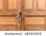 door handle chrome door knob... | Shutterstock . vector #682324543