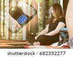 fat asian women who are... | Shutterstock . vector #682332277