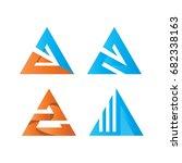 triangle logo template | Shutterstock .eps vector #682338163