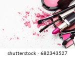 makeup. make up set | Shutterstock . vector #682343527