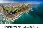 lima  peru  aerial view of... | Shutterstock . vector #682350013