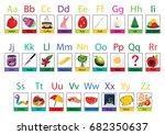 vector alphabet letter a to z... | Shutterstock .eps vector #682350637