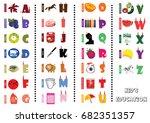 vector alphabet letter a to z... | Shutterstock .eps vector #682351357