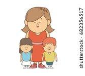 cute cartoon illustration of... | Shutterstock .eps vector #682356517