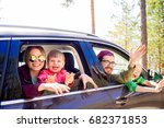 family going on a trip | Shutterstock . vector #682371853