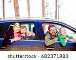 family in a car | Shutterstock . vector #682371883