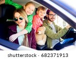family going on a trip | Shutterstock . vector #682371913