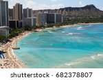 from the top waikiki beach and... | Shutterstock . vector #682378807