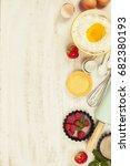 baking tools and ingredients  ... | Shutterstock . vector #682380193