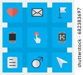 vector illustration set of... | Shutterstock .eps vector #682383697