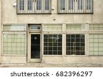 an unoccupied storefront  an... | Shutterstock . vector #682396297