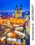 prague  czech republic.... | Shutterstock . vector #682398697