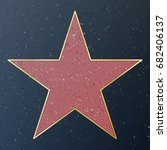 hollywood walk of fame. vector... | Shutterstock .eps vector #682406137