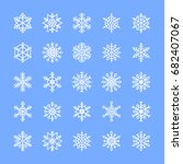 vector set of snowflake icons.... | Shutterstock .eps vector #682407067