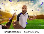 soccer player in action fish... | Shutterstock . vector #682408147