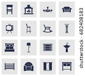 set of 16 situation icons set... | Shutterstock .eps vector #682408183