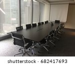 interior of modern meeting room ... | Shutterstock . vector #682417693