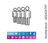 queue icon | Shutterstock .eps vector #682424797