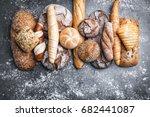 delicious freshly baked bread... | Shutterstock . vector #682441087