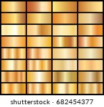 collection of golden gradients  ... | Shutterstock .eps vector #682454377